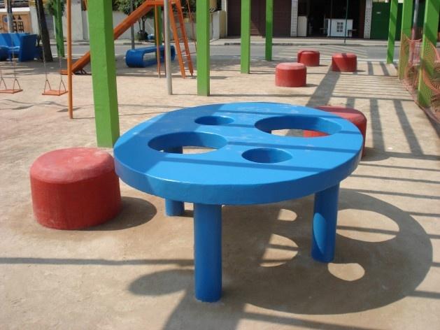 Vista Pérgola-Mesa-Bola<br />Imagem dos autores do projeto