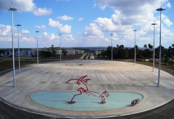 Plaza y escultura el 9 Febrero 2008<br />Foto divulgação