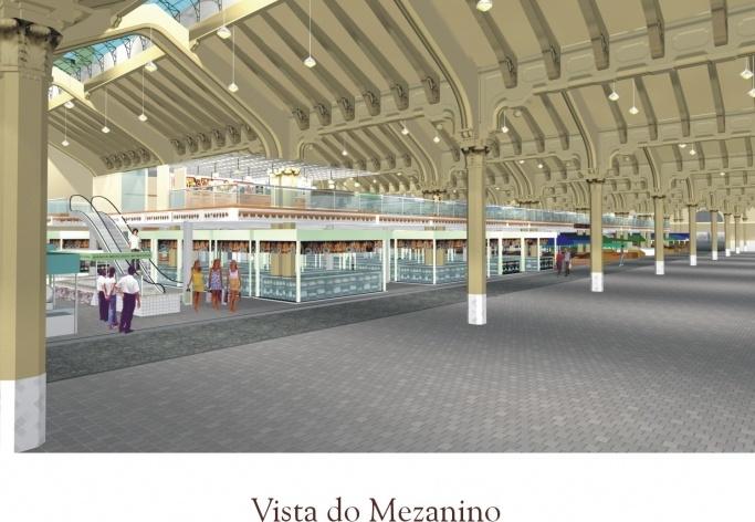 Vista do mezanino<br />Imagem do autor do projeto