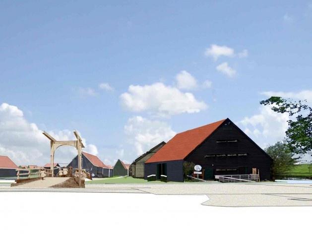 Nova entrada de Zaanse Schans em Schipperplein (sem moinho)<br />Foto divulgação  [SteenhuisMeurs BV]
