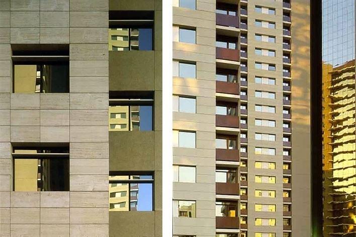 Variações nas fachadas dos edifícios<br />Foto Nelson Kon