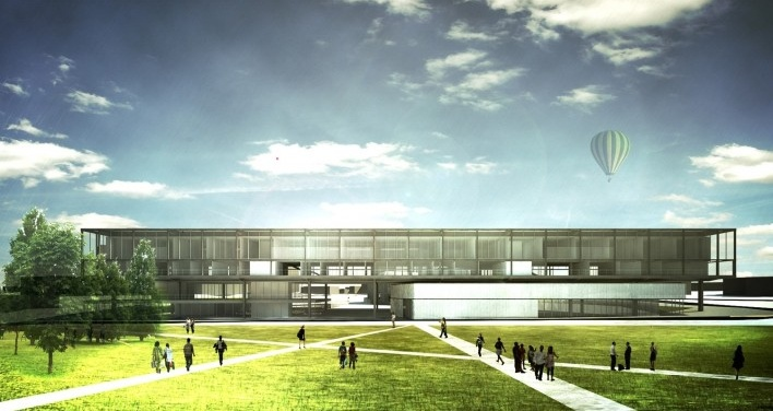 Nova Frente Urbana: visão do complexo volumétrico a partir da Praça Brigadeiro Eppinghauss
