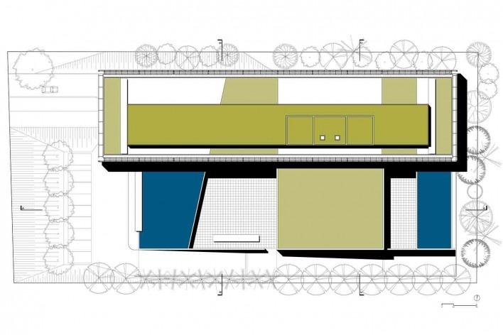 Nova sede da Confederação Nacional de Municípios – CNM, implantação, Brasília DF, 2016. Arquitetos Luís Eduardo Loiola e Maria Cristina Motta / Mira Arquitetos<br />Desenho divulgação