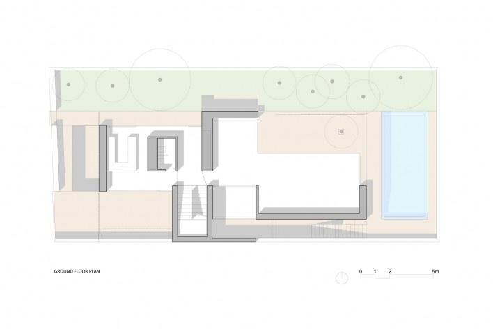 Nível Térreo Casa no Juso. Projeto ARX Portugal + Stefano Riva, 2011<br />divulgação
