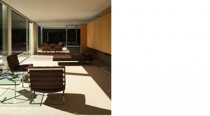 Casa Edith Farnsworth, Plano, Illinois, Estados Unidos. Arquiteto Ludwig Mies van der Rohe, 1951<br />Foto Sabrina Fontenelle