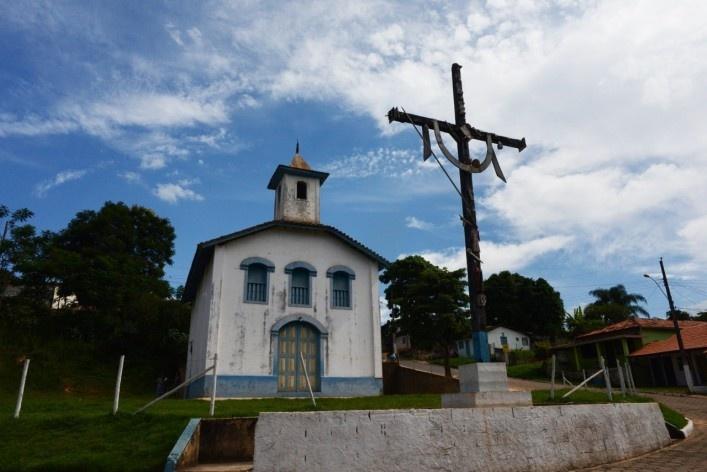 Capela na comunidade de São Sebastião de Vargem Alegre, antigo Povoado do Capão<br />Foto/Photo Fabio Lima