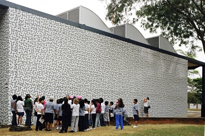 Aula-passeio no Instituto de Artes da Univerdidade de Brasília<br />Foto Lana Guimarães