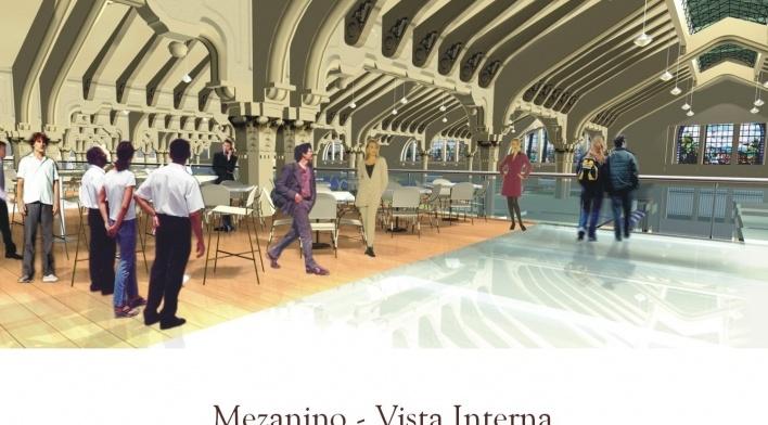 Mezanino. Vista interna<br />Imagem do autor do projeto