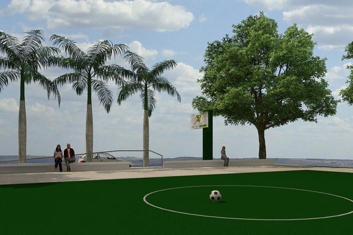 Vista campo de futebol. Academia da Saúde. Recife, 2011<br />divulgação