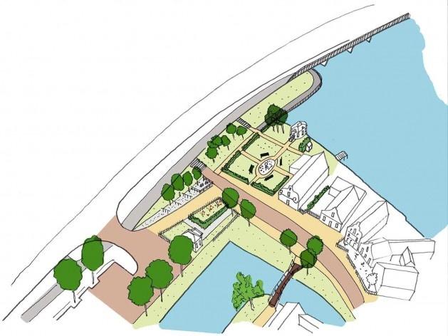 A estrutura urbana de Zaandijk em 1817, referência para o futuro desenvolvimento<br />Projeto SteenhuisMeurs BV