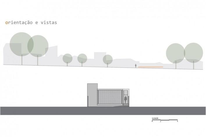 Estúdio no Jardim Paulista, orientação, vistas e elevação, Presidente Prudente SP, 2017-2018. Arquiteta Cristiana Pasquini (autora) / grupoDEArquitetura<br />Imagem divulgação  [Acervo grupoDEArquitetura]