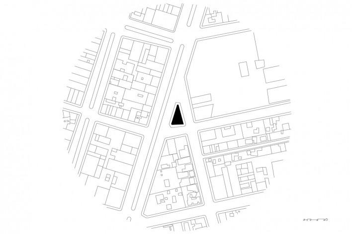 Subsolanus, implantação, Cidade do México, 2015-2016. Arquitetos Anna Juni, Enk te Winkel e Gustavo Delonero (Vão Arquitetura) + Marina Canhadas<br />Imagem divulgação