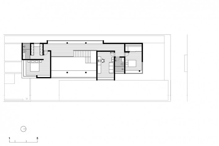 Casa vale do sol, planta do pavimento superior. Marcos Franchini