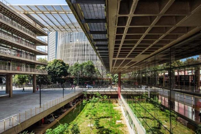 Centro Paula Souza, São Paulo, arquitetos Francisco Spadoni e Pedro Taddei<br />Foto Nelson Kon