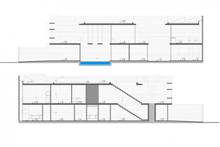 Casa Mipibu, cortes bb e cc, São Paulo SP Brasil, 2015. Arquitetos Danilo Terra, Pedro Tuma e Fernanda Sakano (autores) / Terra e Tuma Arquitetos Associados<br />Imagem divulgação  [Acervo Terra e Tuma Arquitetos Associados]