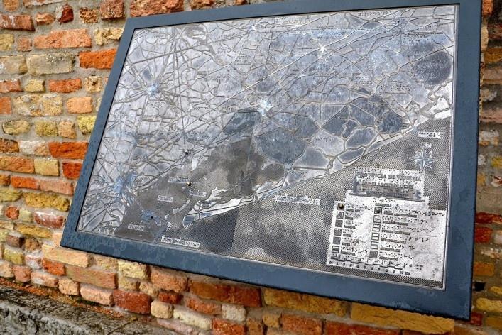 Mapa com a localização<br />Foto/photo Fabio Lima