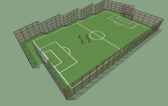 Modelo 3D - Campo Soçaite<br />Imagem dos autores do projeto