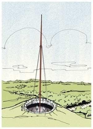 Monumento aos lanceiros negros - croquis<br />Imagem dos autores do projeto