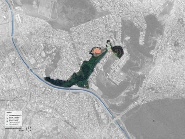 Parque Municipal Nair Bello, contexto da região Jardim Santa Teresinha, São Paulo SP Brasil, 2020. Secretaria Municipal do Verde e do Meio Ambiente<br />Imagem divulgação  [Acervo SVMA/DIPO]