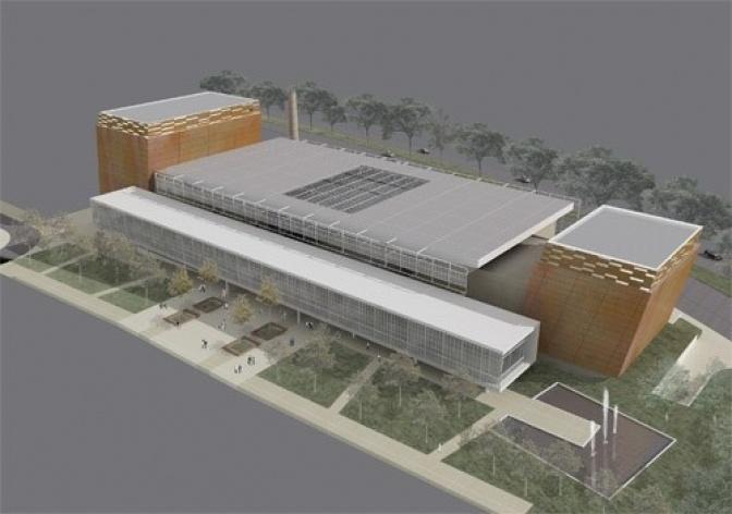 Vista aérea posterior<br />Imagem do autor do projeto