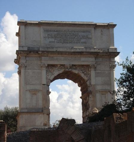 Arco de Tito, 81 d.C.<br />Foto Claudia dos Reis e Cunha