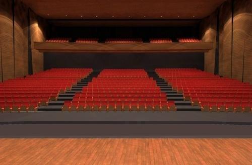 Vista do palco para o fundo do teatro<br />Imagem do autor do projeto