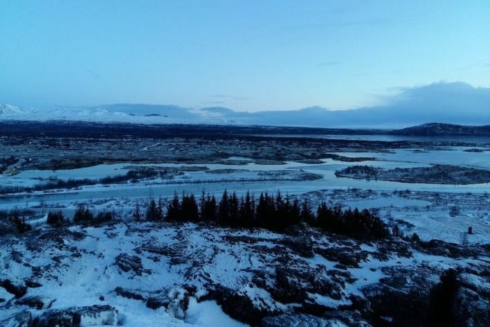 Vista do Parque Nacional Þingvellir<br />Foto Carolina Fidalgo de Oliveira, dezembro 2017