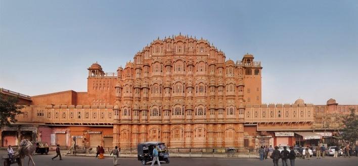 Hawa Mahal, ou Palácio dos Ventos, Jaipur, Índia<br />Fotomontagem Victor Hugo Mori, 2010