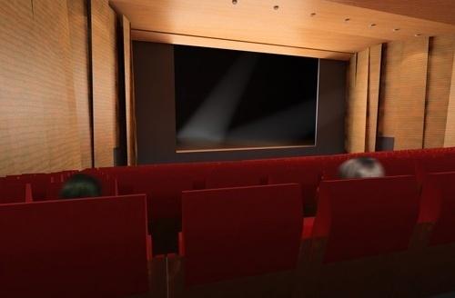 Vista do fundo do teatro em direção ao palco<br />Imagem do autor do projeto