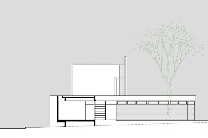 Arquiteto Fabiano Sobreira. Casa da Copaíba, Brasília, 2012. Corte C