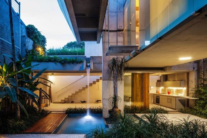Projetos casa casa de fim de semana em s o paulo for Casa con piscina fin de semana