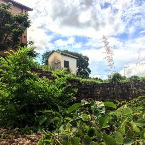 Vista dos edifícios e da vegetação rasteira na Fazenda Ipanema em Iperó SP<br />Foto Bianca Siqueira Martins Domingos