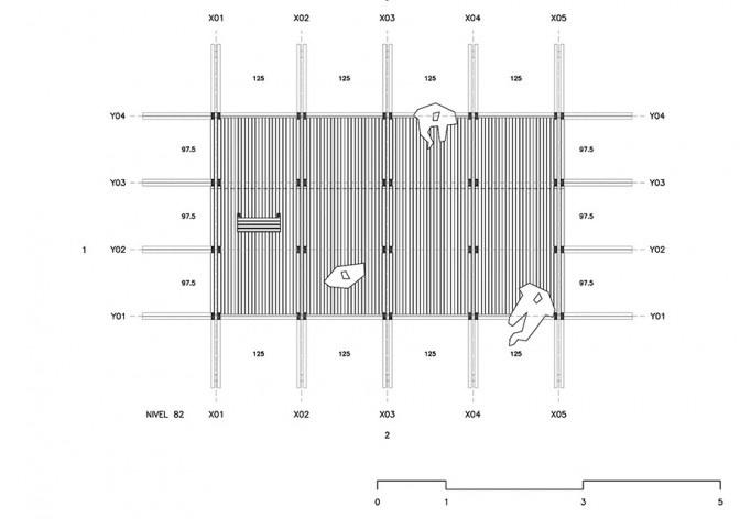 Observatório do Campo e das Estrelas, planta nível 82, Ceibas, Entre Rios, Argentina, arquitetos Cássio Sauer e Elisa T Martins<br />Imagem divulgação  [Sauermartins]