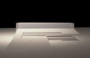 Foto maquete - vista frontal<br />Imagem do autor do projeto