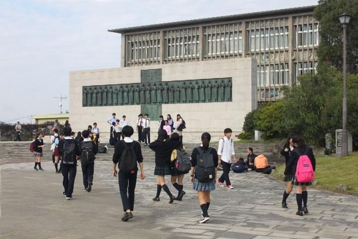 Museu e Monumento dos Vinte e Seis Mártires, Nagasaki, Japão<br />Foto Joanes Rocha