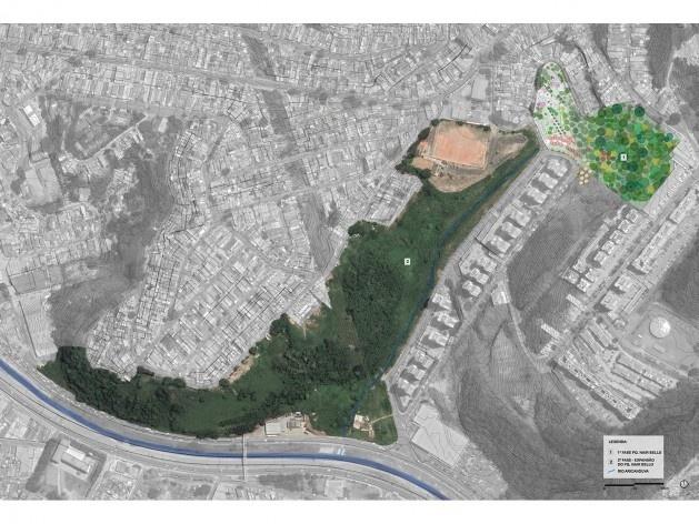 Parque Municipal Nair Bello, fase 01 e fase 02 com o afluente do Rio Aricanduva, São Paulo SP Brasil, 2020. Secretaria Municipal do Verde e do Meio Ambiente<br />Imagem divulgação  [Acervo SVMA/DIPO]