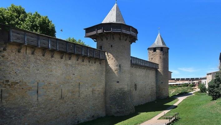 Castelo de Carcassonne, França<br />Foto Victor Hugo Mori