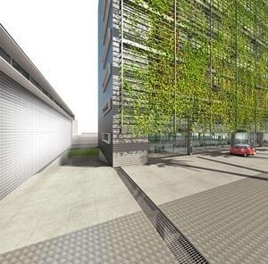 Praça de acesso – DESUS<br />Desenho de Jean Grivot Avancini
