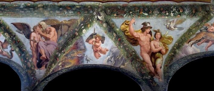 Rafael Sanzio, Loggia di Amore e Psiche, detalhe, Vila Farnesina, Roma<br />Foto Victor Hugo Mori