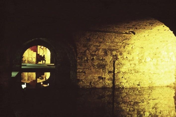 Mercado Modelo, subsolo da antiga alfândega logo após restauro em 1984, Salvador BA<br />Foto divulgação  [Arquivo Paulo Ormindo de Azevedo]