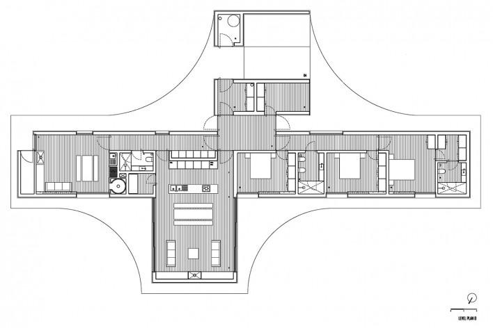Gloma House, floor plan, Leiria, Portugal, 2019. Architect Bruno Lucas Dias/ Bruno Dias Arquitectura<br />Imagem divulgação/ disclosure image  [Acervo/ collection Bruno Dias Arquitectura]