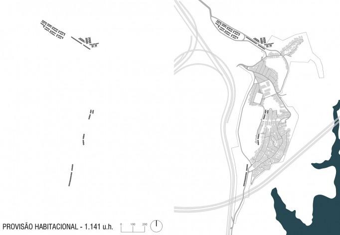 Diagrama de projeto. Provisão habitacional. Projeto de Urbanização Integrada<br />Fonte Boldarini Arquitetos Associados
