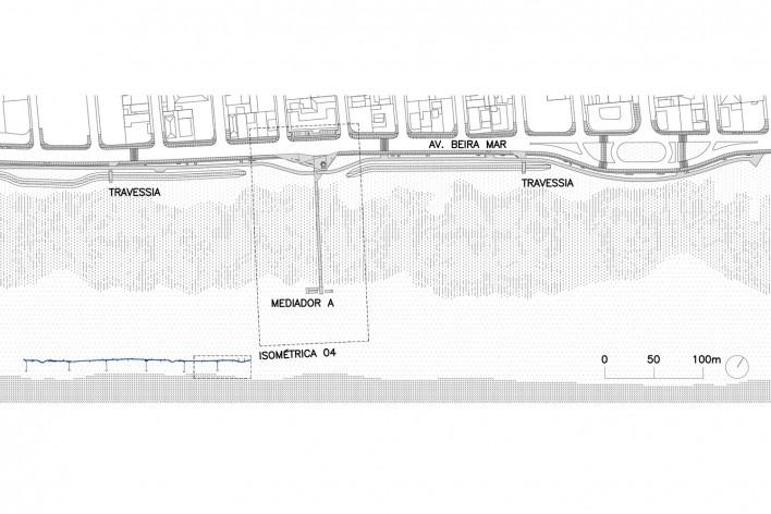 Requalificação urbana e ambiental da orla de Ilha Comprida, Trecho com mediadores C e B, implantação parcial, 2019. Arquitetos Marcos Boldarini e Lucas Nobre<br />Imagem divulgação