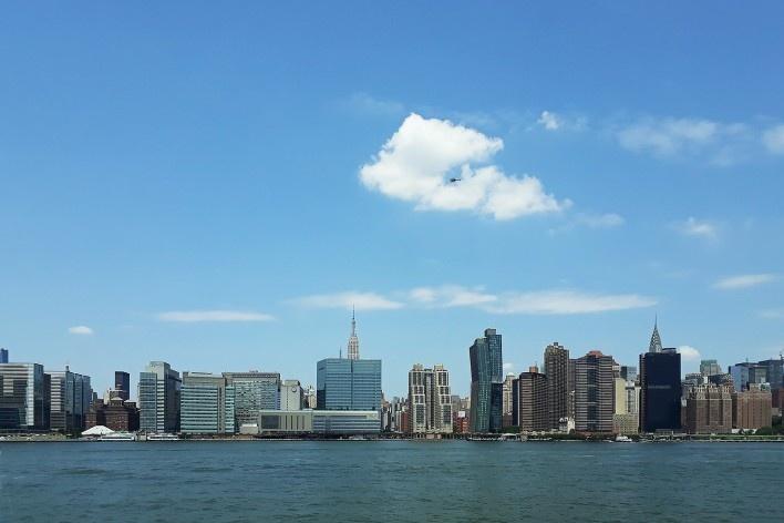 Vista para Manhattan a partir da balsa de acesso<br />Foto Lidiane Espindula, 2018