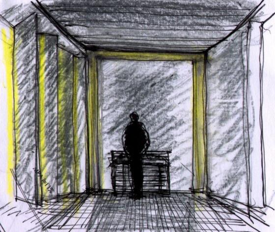 Croqui interior<br />Imagem dos autores do projeto