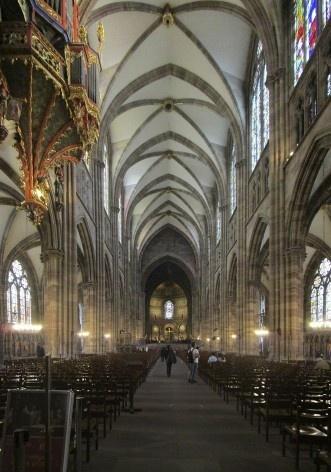 Interior da Catedral de Notre-Dame de Strassbourg<br />Foto Victor Hugo Mori
