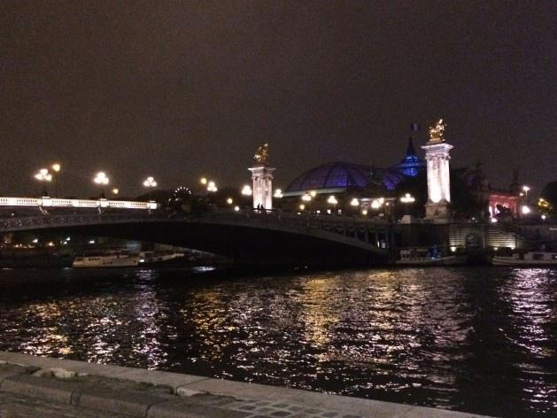 Grand Palais (ao fundo), visto a partir de margem do Rio Sena, percurso Centro<br />Foto Simone Carneiro