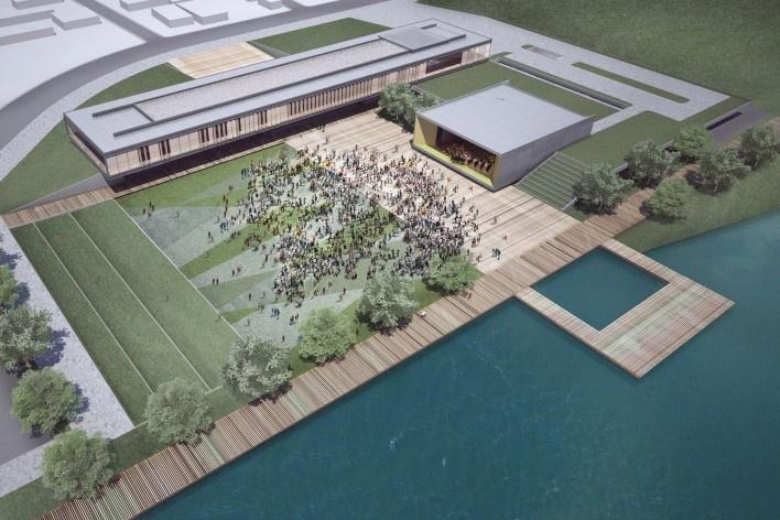 Centro Cultural de Eventos e Exposições – Cabo Frio, 2º lugar, ARQBR Arquitetura e Urbanismo [ARQBR Arquitetura e Urbanismo]