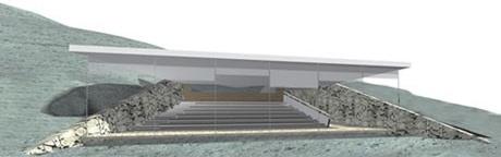 Praça - vista da entrada do Memorial<br />Imagem dos autores do projeto