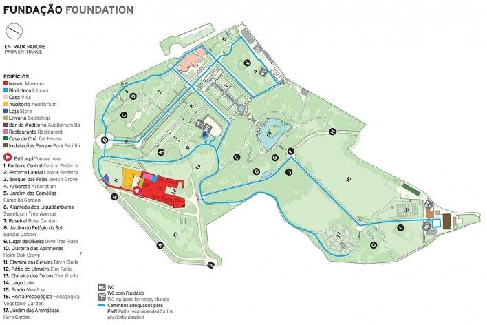 Fundação de Serralves – Museu de Arte Contemporânea, mapa da instituição<br />Imagem divulgação  [Website Fundação Serralves]